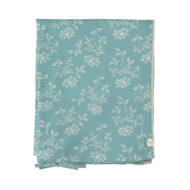 Housse de couette 140×200 – Taie d'oreiller 75×50 – Hanako Floral  vert pâle