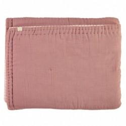 Couverture Réversible – Blush/Rose perle – 100×120