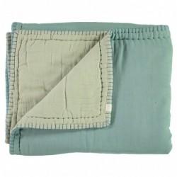 Couverture Réversible – vert pâle/Menthe – 100×120