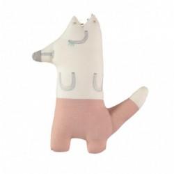 Peluche – FOXY le renard Mini – Pantalon à carreaux corail