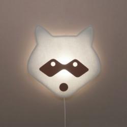 Veilleuse – lampe murale – raton laveur