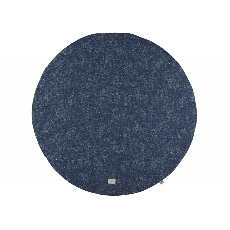Tapis de jeux Ø 105 – Full Moon – gold bubble -bleu nuit