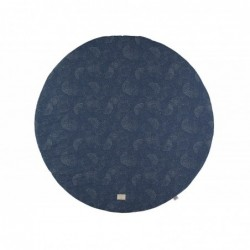 Tapis de jeux Ø 105 – Full Moon – gold bubble -bleu nuit