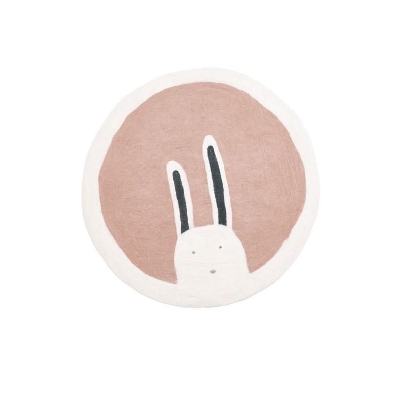 Tapis rond Ø120 cm – Pasu – Bunny Quartz Rose