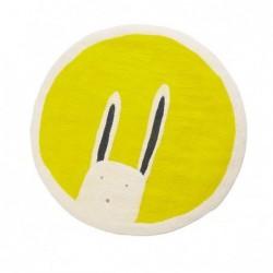 Tapis rond Ø120 cm – Pasu – Bunny Fleur de Souffre