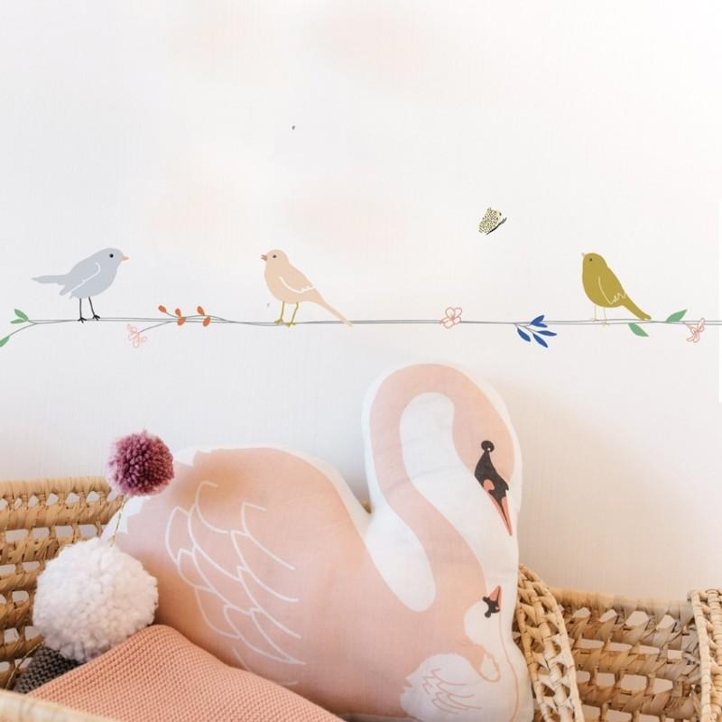 Sticker – Frise Fleurs & Oiseaux