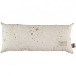 Coussin Hardy Long – Etoiles d'or – Naturel