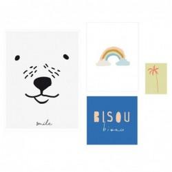 Lot de 4 affiches – Bisous