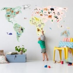Sticker géant – Map monde