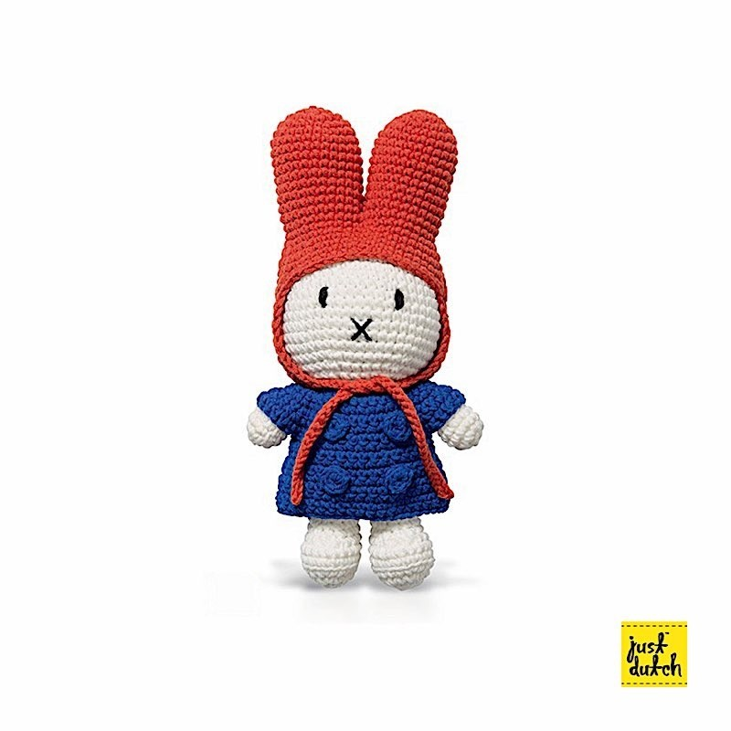 Miffy Bleu Veste + Bonnet Rouge