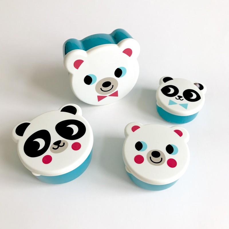 Set de boites de gouter – Ours Blancs