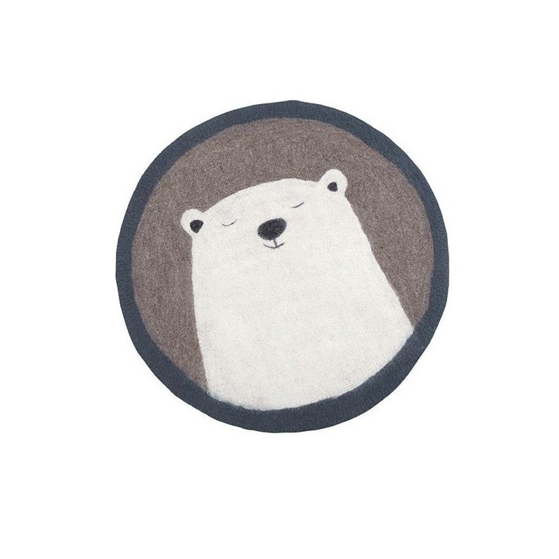 Tapis rond Ø120 cm – Grizzly Stone