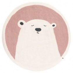 Tapis rond Ø120 cm – Grizzly Rose Quartz