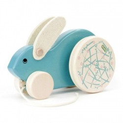 Jouet à tirer – Grand Lapin Turquoise