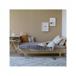 Couverture Réversible – Gris/Pierre – 100×120