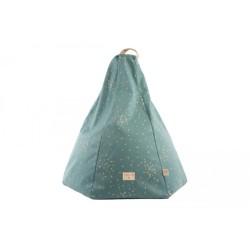Pouf – Marrakech – Gold Confetti – Magic green