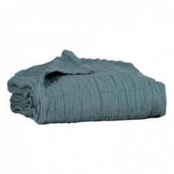 Couverture en coton – Diamond – Air Force Blue – 75 x 120