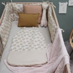 Couverture en coton – Diamond – Pearl Pink – 75 x 120