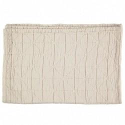 Couverture en coton – Diamond – Natural – 75 x 120