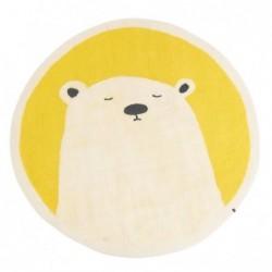 Tapis rond Ø120 cm – Grizzly Fleur de Souffre