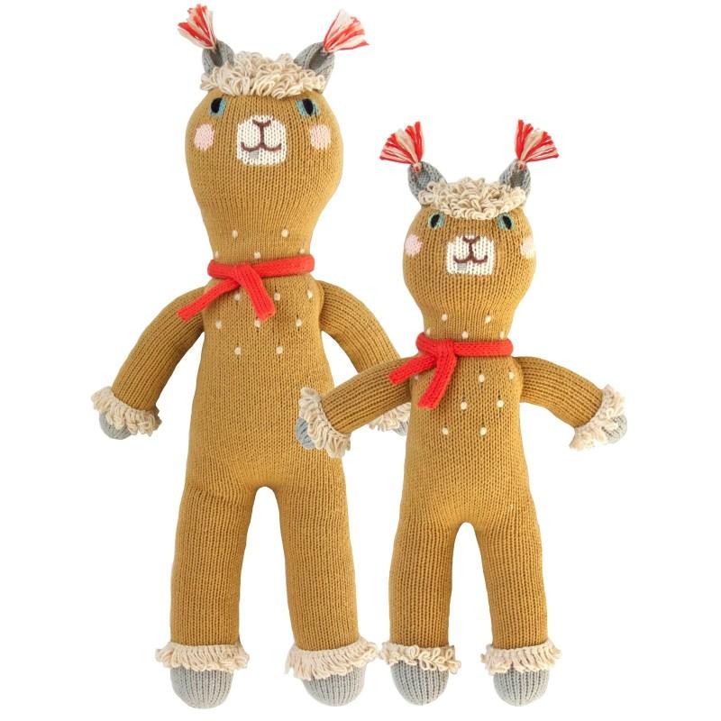 Petite peluche en tricot – Machu l'alpaca