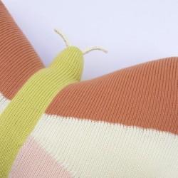 Coussin en tricot – Papillon