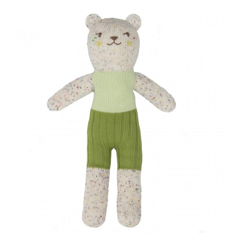 Petite peluche en tricot – Tweedy Concombre