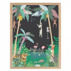 Affiche et cadre – jungle
