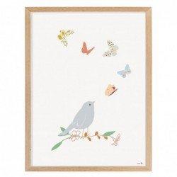 Affiche et cadre – papillons