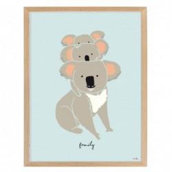 Affiche et cadre – famille koalas