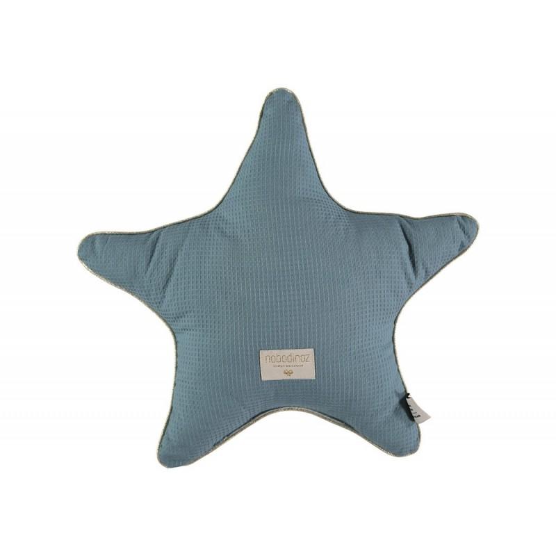 Coussin Aristote étoile – 40×40 – Vert magique