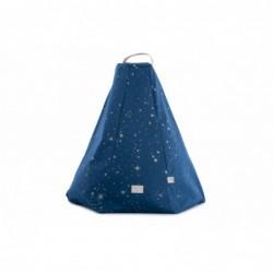 Pouf – Marrakech – étoiles dorées – bleu nuit
