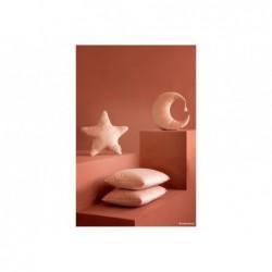 Coussin Aristote étoile velours – 40×40 – rose fleuri