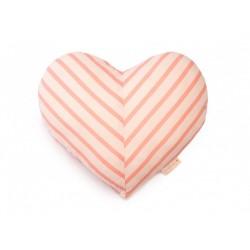 Coussin - coeur - lignes roses
