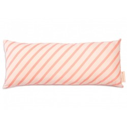 Coussin - Hardy - lignes roses