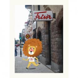Affiche - Le lion chez le...