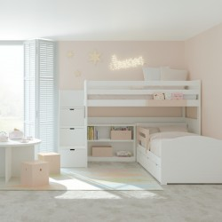 Loft Bed + Storage Steps