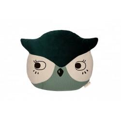Owl Cushion - Eden Green