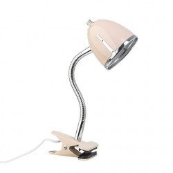 Pink clip-on lamp