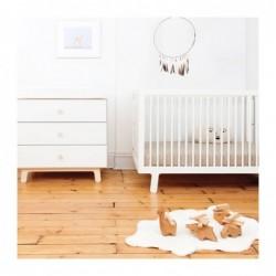 Lit de bébé Sparrow – Blanc