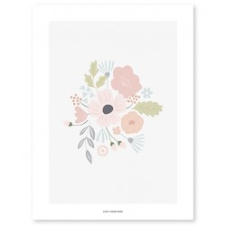 Poster - Round Flowers Bouquet