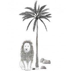 Stickers XL - Arbre et lion
